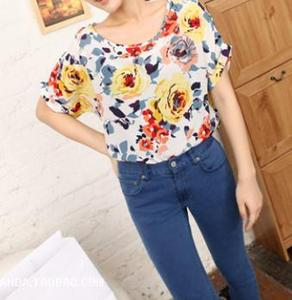 Image of Colorful Floral Print Top