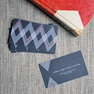 Image of Triangle Stripes Calling Cards