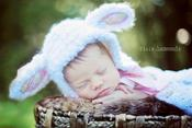 Image of Newborn Lamb Bonnet Crochet Pattern PDF 88