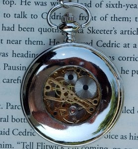Image of Silver Winged Wind-Up Pocket Watch