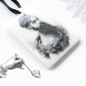 Image of The Fully Illustrated and Bearded Lady Pendant