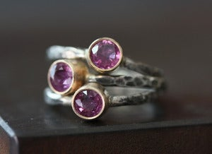 Image of Natural Ruby Ring in 14kt gold + sterling silver- as seen in LUCKY Magazine