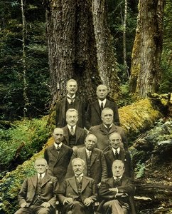Image of 'Woodcutters Summit' (collage). An original artwork by Omar Zingaro Bhatia.