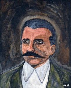 Image of 'Zapata - Revolutionary' ~ Painting by Pmar Zingaro Bhatia