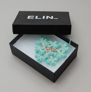 Image of Lichen necklace in pale aqua