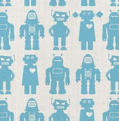 Image of solid robots - fabric by the yard
