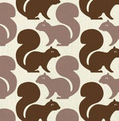 Image of squirrels - fabric strike off