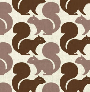 Image of squirrels - fabric sample