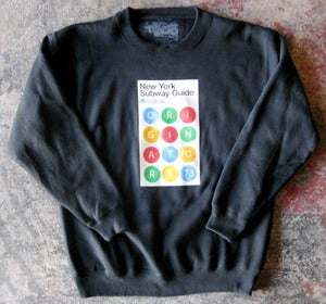 Image of OG SUBWAY GUIDE CREW-NECK