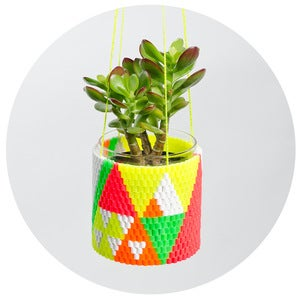 Image of Woven Bead Planter (mexican)