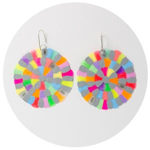 Image of Colourific Earrings (grey multimix)