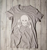 Skull &amp; Barbells Tee - Grey/White - Workout Tee