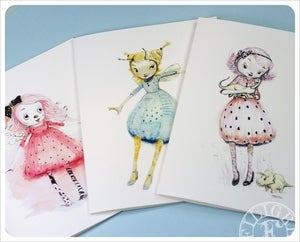 Image of 3 Art Doll Cards by the Filigree