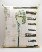 "Image of Vintage PACIFIC NORTHWEST Map Pillow, Made to Order 16""x20"" Cover"