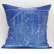 "Image of Vintage CITY OF DETROIT Map Pillow, Made to Order 18""x18"" Cover"
