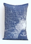 "Image of Vintage DETROIT AND SUBURBS Map Pillow, Made to Order 14""x20"" Cover"