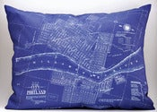 "Image of Vintage PORTLAND, OR Map Pillow, Made to Order 15""x20"" Cover"