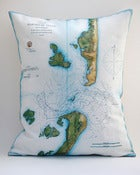 "Image of Vintage BARNEGAT, NJ Map Pillow, Made to Order 16""x20"" Cover"