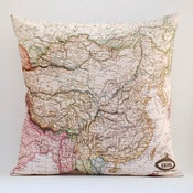 "Image of Vintage CHINA Map Pillow, Made to Order 18"" x18"" Cover"