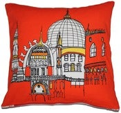 Image of Venezia Red Cushion