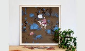 Image of Magnetic Art Board-Khaki Blue