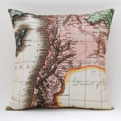 "Image of Vintage ANCIENT SYRIA 18"" x18"" Map Pillow Cover"