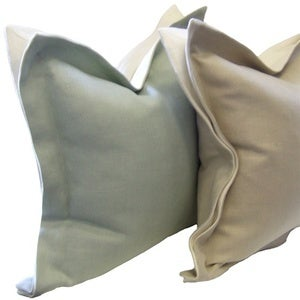 Image of Wide Flanged Linen Pillow