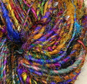 Image of Wild Peacock Recycled Silk Yarn