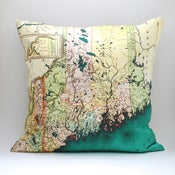 "Image of Vintage MAINE 18""x18"" Map Pillow Cover"