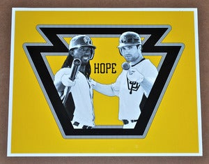 Image of Andrew McCutchen / Neil Walker Pittsburgh Pirates &quot;Hope&quot; print by Backpage Press
