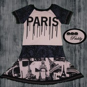 Image of **SOLD OUT** Paris Dress made with designer tee size 7/8