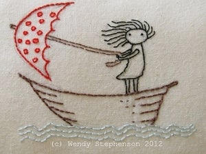 Image of She stood in the storm Embroidery Pattern