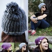 Image of Faux Knit Ladies Slouch hat (pdf #83)