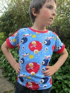 Image of Dolman tee unisex sewing pattern (18m/2T, 3T/4T, 5Y/6Y, 7Y/8Y) - PDF