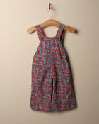 Image of c. 1970s train print dungarees