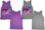 Image of Unisex Do It Better Tank...Dark Orchid &amp; Grey Taupe