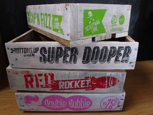Image of Cool Up-Cycled Wooden Drink Crates