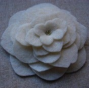 Image of XL tea rose // ivory brooch