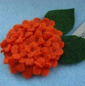 Image of mini hydrangea // tangerine brooch