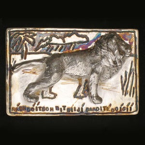 Image of Nashdoitsoh Bitsiiji Dahditl'ooigii (Lion) Belt Buckle