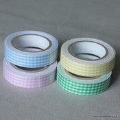 Image of Fabric tapes vichy - 10 coloris