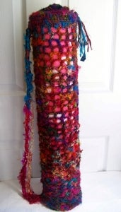 Crochet This! Easier Sari Silk Yoga Mat Bag Pattern $2.99