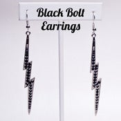 Image of Black Bolt Earrings