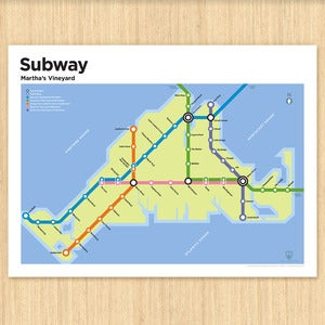 Image of Martha's Vineyard Subway Map