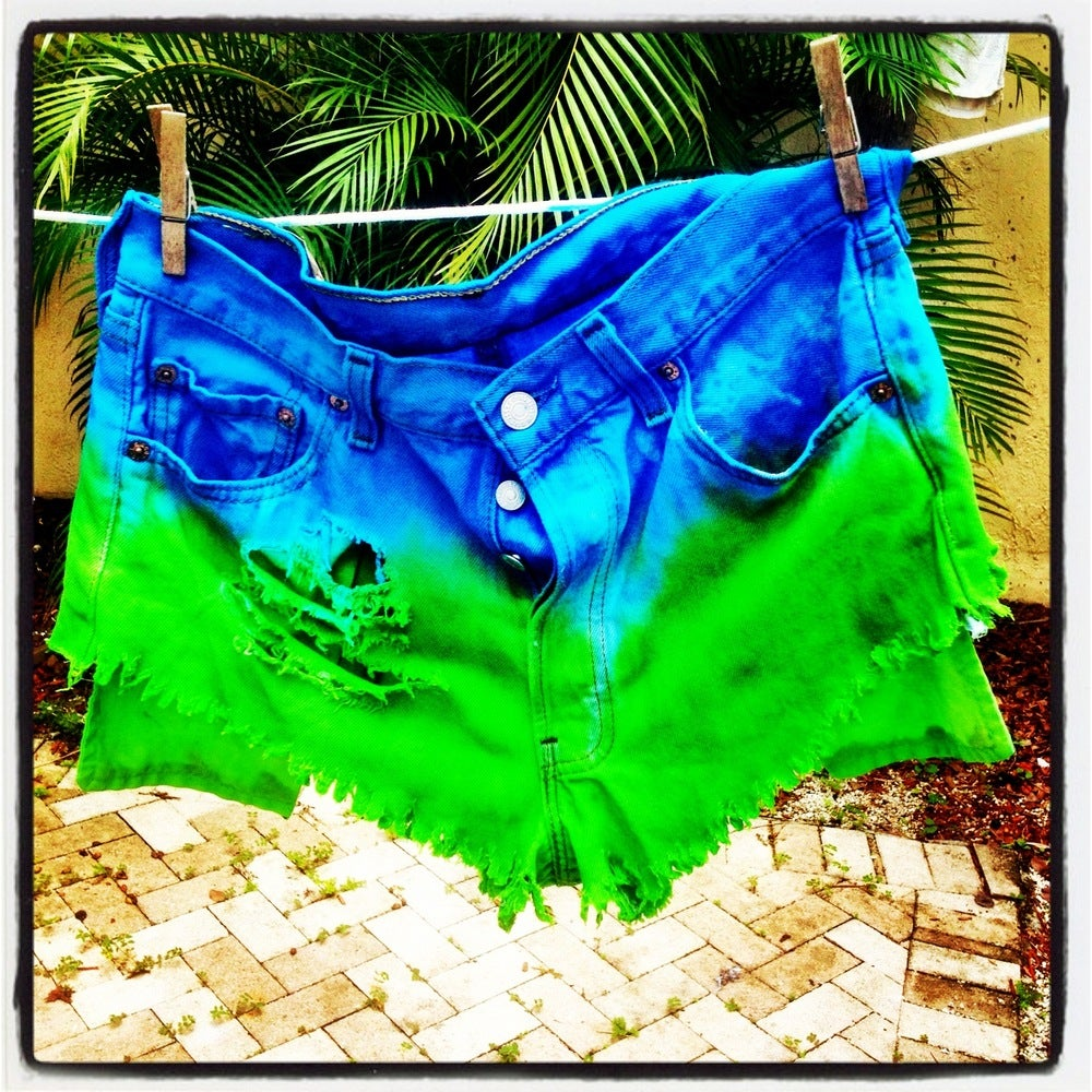 Image of SLS Color block Highwaist Levi shorts