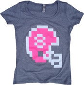 Image of 8 Bit Apparel Helmet Womens Scoop Neck