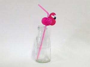 Image of Pink Flamingo Straws
