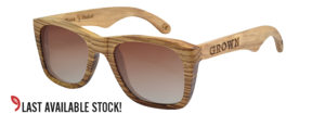Image of 'KICKER' ZebraWood Wayfarer