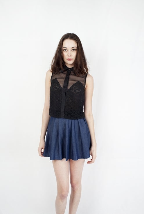Image of Black crochet top