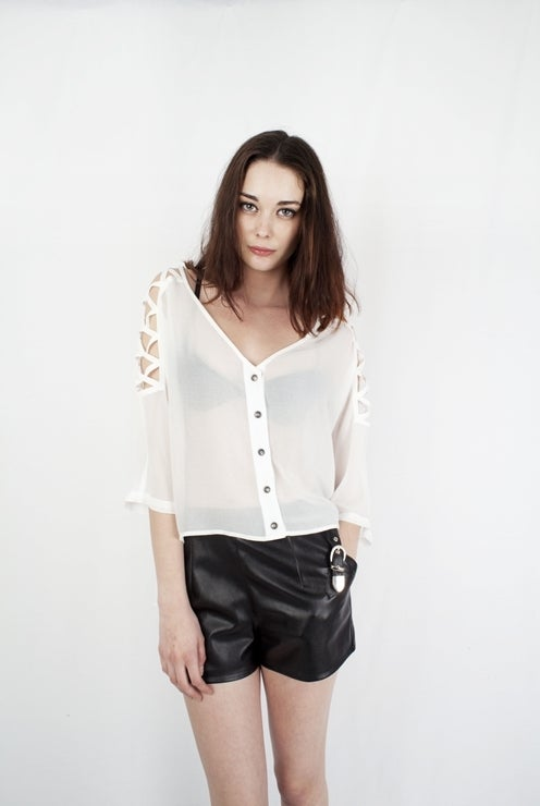 Image of Oversized White Top